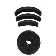 Bella Hararo Donuts Hair Juda Maker Hair Bun Accessories For Women And Girls Combo 4 Pcs 20 gram Black Pack Of 1