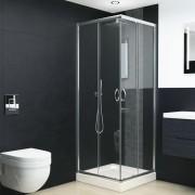 vidaXL Cabină de duș, 80x80x185 cm, sticlă securizată