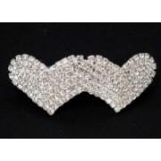 Svatební bižuterie štrasová francouzská spona srdce 5673-3 5673-3