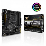 Дънна платка asus tuf b450m-plus gaming socket am4, 4xddr4, aura sync, asus-mb-tuf-b450m-plus