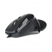 EY Delux M910 mouse con cable gris y negro de 5 ppp marchas anti-patinado Design-Gris y negro