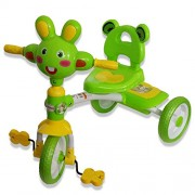 Baby Land Tricycle with Dream Rabbit Face Design - Green