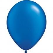 Balon latex pearl sapphire blue 16 inch (41 cm), qualatex 87174, set 50 buc
