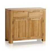 Oak Furnitureland Natural Solid Oak Sideboards - Small Sideboard - Romsey Range - Oak Furnitureland