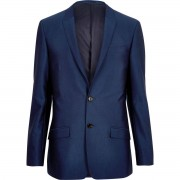River Island Mens Bright Blue skinny suit jacket