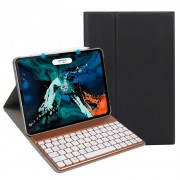 Detachable Bluetooth Keyboard Leather Case (with 7-color Backlight) for iPad Pro 11-inch (2020)/Pro 11-inch (2018) - Black