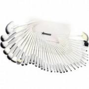 Set 36 pensule machiaj Cosmetic Par Natural-Sintetic Make-up Profesional Albe + Trusa Farduri Pleoape
