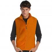 James & Nicholson Oranje fleece sport bodywarmers voor heren