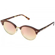 Ray-Ban RB4246 51mm Top Brown on Transparent GreyShiny GoldCopper Flash Gradient