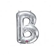 Anagram Letter B ballon zilver 86 cm