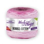 Woolly Hugs Bobbel Cotton von Woolly Hugs, Weiß/Fuchsia/Pink