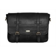 "SCHARF Boston Sebastine - Rar File 15.6"" Laptop - Macbook Shoulder Messenger Bag Medium Briefcase - For Men & Women(Black)"