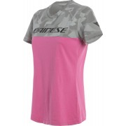 Dainese Camo Tracks Women´s T-shirt Grey Pink L