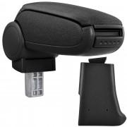 Středová loketní opěrka - vhodná pro: Golf 3, Volkswagen Vento - Látkový potah (plochá tkanina) - Černá s černými švy