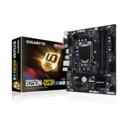 Tarjeta Madre GIGABYTE GA-B250M-DS3H 4xDDR4 PCIE USB3 HDMI Socket 1151-Negro