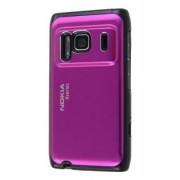 Brushed Aluminium Case for Nokia N8 - Nokia Hard Case (Hot Pink)