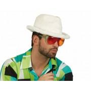 Merkloos Pluche pooier hoed wit