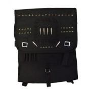 Plecak wojskowy, czarna kostka z ćwiekami BULLETS