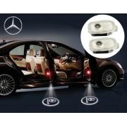 Proiectoare LED Laser Logo Holograme cu Leduri Cree Tip 2, dedicate pentru Mercedes S Class W221 (2006-2012)