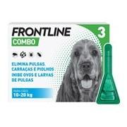 Combo spot on para cães dos 10 aos 20kg 3pipetas - Frontline