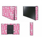 HomeStore-YEP Non Woven Printed Led Cover/LCD Cover Size 32 Pink
