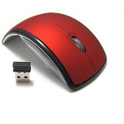 Outre 2.4Ghz Folding ARC Wireless Optical Mouse Red