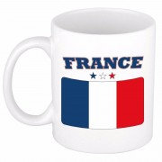 Bellatio Decorations Franse vlag theebeker 300 ml