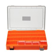 26x17x4cm Plastic Double Sided Fishing Lure Box Accessories Minnow Bait Fishing Box Tackle Container