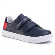Сникърси TOMMY HILFIGER - Low Cut Velcro Sneaker T3B4-30719-0193 D Blue/White/Red Y004