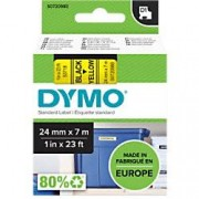 Dymo D1 Labelling Tape 53718 Black on Yellow 24 mm x 7 m