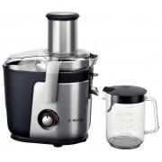 Storcator de fructe si legume Bosch MES4010, 1200 W, 3 Viteze, Tub de alimentare 84 mm (Argintiu/Negru)