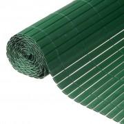 Nature Paravan pentru gard de grădină, verde, PVC, 1 x 3 m, 6050335