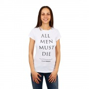 Game of Thrones All Men Must Die fehér női póló