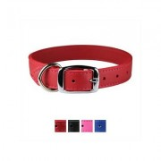 OmniPet Signature Leather Dog Collar, Red, 24-in