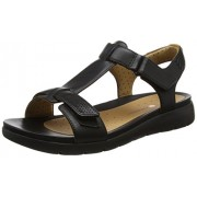 Clarks Women's Un Haywood Black Leather Fashion Sandals - 6.5 UK/India (40 EU)