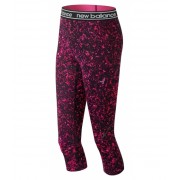 New Balance Women's Pink Ribbon Printed Accelerate Capri Pink with Black