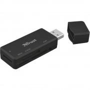 Vanjski čitač memorijskih kartica USB 2.0 Trust Nanga USB 3.1 Crna