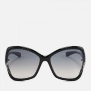 Tom Ford Women's Astrid Oversized Sunglasses - Black/Gradient Smoke