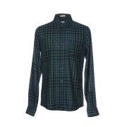 メンズ ROŸ ROGER'S シャツ エメラルドグリーン