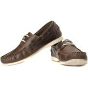 Red Tape Men Genuine Leather Boat Shoes For Men(Brown)