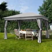 taltpartner.se Trädgårdspaviljonger 3x4m polyester med PU-beläggning 180 g/m² stone vattentät