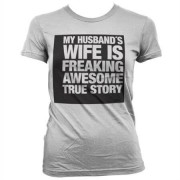 My Husband´s Wife... Girly T-Shirt, Basic Tee