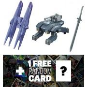 Option Set 4 & UW-33 Union Mobile Worker: Gundam Iron-Blooded Arms High Grade 1/144 Add-On Set + 1 FREE Official Japanese Gundam Trading Card Bundle (HGIBA #004)