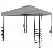 vidaXL Pavilion de grădină, antracit, 300x300x270 cm, oțel vopsit