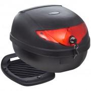 vidaXL Багажник за мотоциклет за една каска, 36 литра