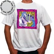 Camiseta Signo Aquário Colorido