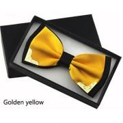 Fashion Metal Bow Ties for Men Women Wedding Party Butterfly Bowtie Gravata Slim Black Bow Tie Cravat - Yellow