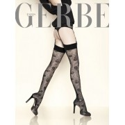 Gerbe Eleganta stockings med blommigt mönster Grand Hotel noir 3