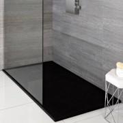 HudsonReed Receveur de douche rectangulaire graphite 150x80cm - Rockwell