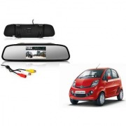 4.3 Inch Rear View TFT LCD Monitor Mirror Screen Display For Reverse Parking and Rear View For Tata Nano